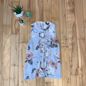 Dynamite Sleeveless High Neck Floral Blouse